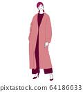 時尚的女人(全身,春季,秋季,冬季,引擎) 64186633