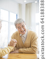 Happy senior life concept. Healthy activities in daily life of senior couple 012 64188388