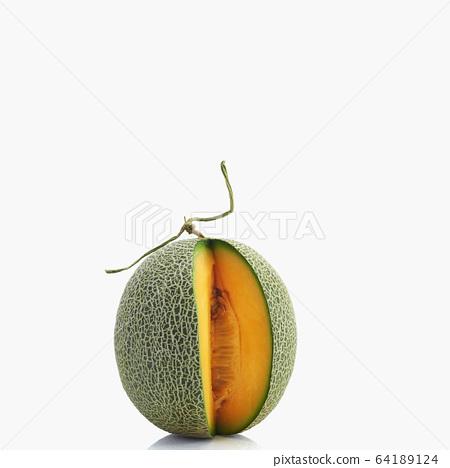 Cantaloupe melon on white background 64189124
