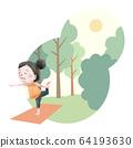 做瑜伽的女孩本質上 64193630