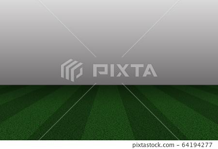 Lawn sports playground stadium, ground, soccer field, rugby, etc. 64194277