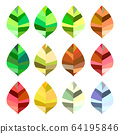 Colorful leaf set 64195846