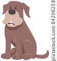 funny brown dog cartoon animal character 64206258