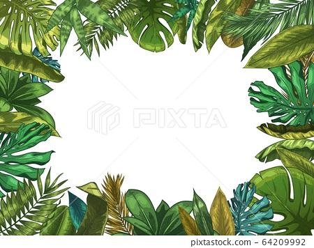 Green Tropical Leaves Frame Nature Leaf Stock Illustration 64209992 Pixta Save the date for your personal holiday. https www pixtastock com illustration 64209992