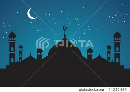 Moslem background vector Illustration 64212480