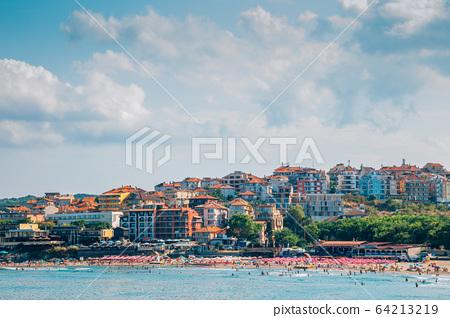 Black sea summer Central beach in Sozopol, Bulgaria 64213219