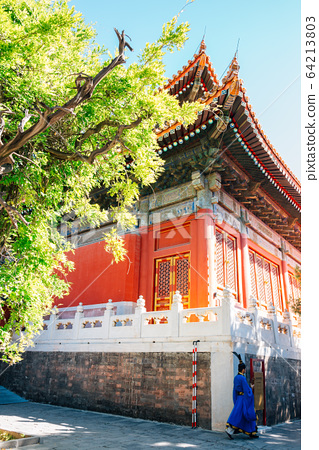 Confucius Temple, Historical architecture in Beijing, China 64213803