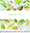 Template for matcha tea 64213859