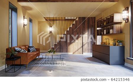modern home interior. 64215346