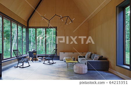 modern home interior. 64215351