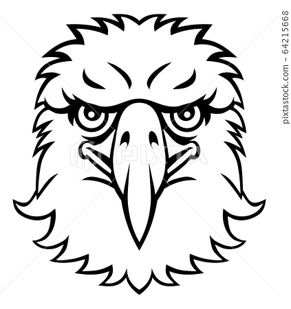 Eagle Mascot Cartoon Character 64215668