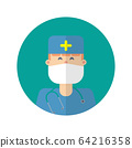 doctor icons illustration of flat design.Medical & 64216358