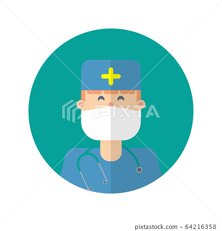 doctor icons illustration of flat design.Medical & 64216358