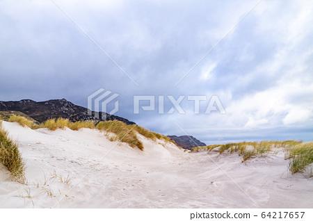 The dunes at Maghera Beach near Ardara, County Donegal - Ireland. 64217657