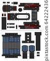 The paper model of a classic steam train 64222436