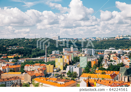 Brno city panorama view from Spilberk Castle in Brno, Czech Republic 64224561