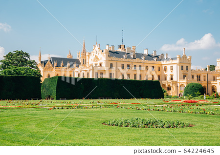 Castle Lednice and garden in Lednice, Czech Republic 64224645