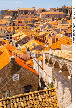 Dubrovnik old town panorama view in Croatia 64225160