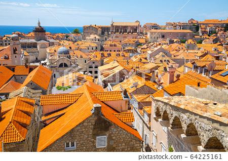 Dubrovnik old town panorama view in Croatia 64225161