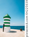 Lighthouse and sea in Zadar, Croatia 64225639