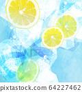 背景柠檬粒蓝色 64227462