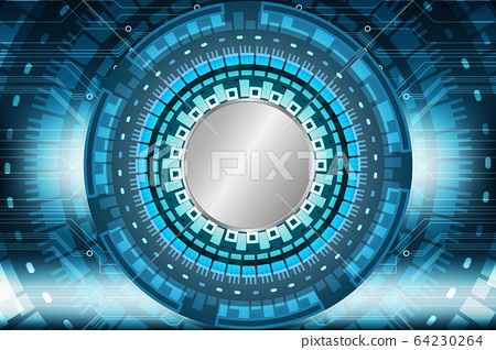 abstract future circle technology blue concept 64230264