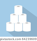 stack of toilet paper icon 64239609