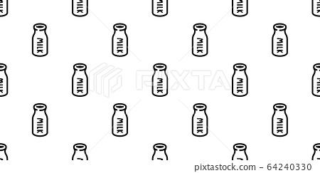 Milk Bottle Seamless Pattern Vector Cartoon Stock Illustration 64240330 Pixta