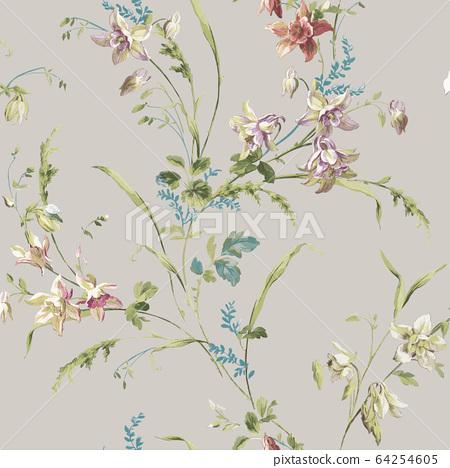 色彩豐富的花卉素材組合和設計元素 64254605