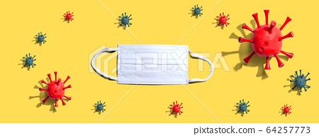 Viral epidemic influenza and Coronavirus concept 64257773