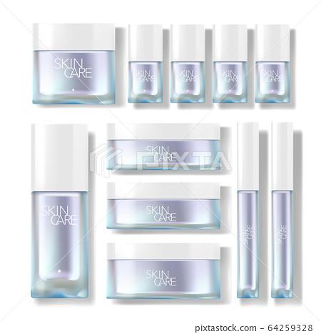 Skincare Packaging Jar & Bottle Vector Set 64259328