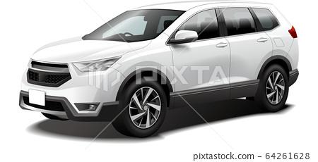 Car illustration SUV 4WD crossover outdoor original design 64261628