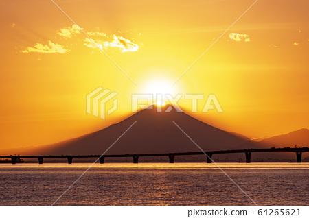 Diamond Fuji and Aqua Line 64265621