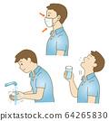 마스크 양치질 · 화장실 일러스트 세트 01 64265830