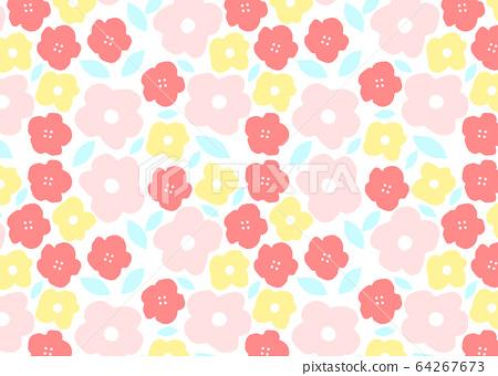 Pastel floral pattern wallpaper 64267673