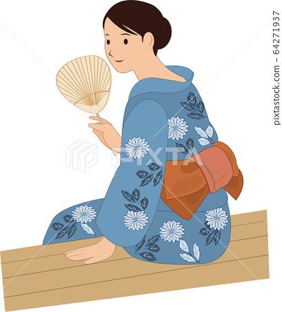 A woman in a yukata 64271937