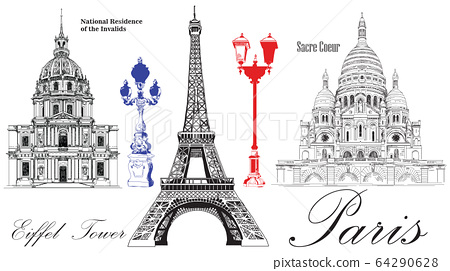 Vector Eiffel Tower, National Residence of the 64290628