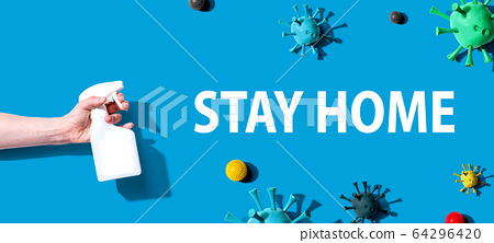 Stay at home theme with sanitizing spray 64296420