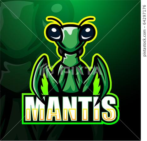 Mantis mascot esport logo design 64297176