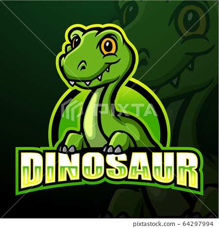 Dinosaur mascot esport logo design 64297994
