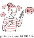 手繪1color休閒女人體溫計發燒 64300314