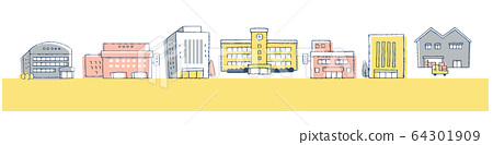城市景觀建築街道 64301909