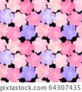 벚꽃의 수채화 일러스트 꽃 무늬 패턴 64307435