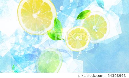 배경 - 레몬 - 소다 64308948