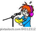 Person recording ocarina 64312312