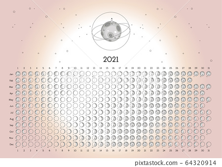 Moon Calendar 2021 Northern Hemisphere Pink 64320914