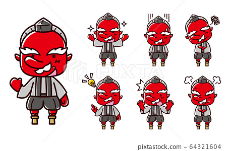 Tengu illustration / expression set 64321604