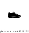 Sneakers flat icon 64328295