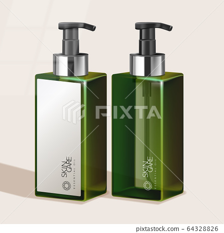 Vector Tinted Tall Pump Bottle for Haircare / Skincare / Health Care / Toiletries Products 64328826