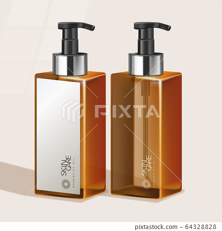 Vector Tinted Tall Pump Bottle for Haircare / Skincare / Health Care / Toiletries Products 64328828